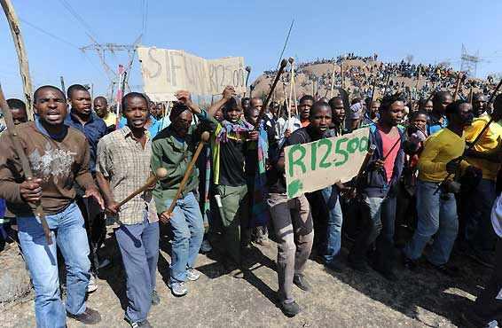 南非马里卡纳罢工工人